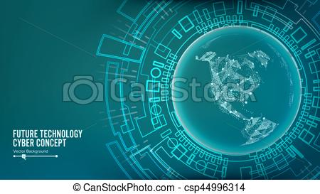 Cyber clipart new technology Structure Future Connection Cyberspace Technology
