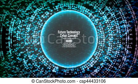 Cyber clipart new technology Technology Blue  Future Security