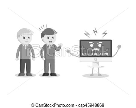 Cyber clipart victim Black style Art Clip