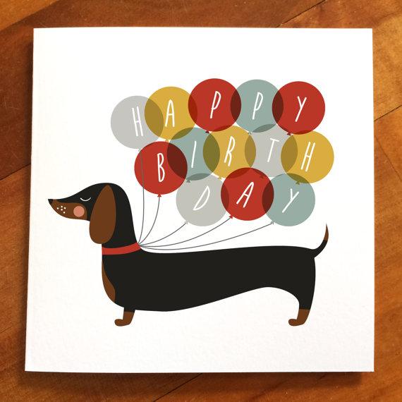 Birthday clipart dachshund Sausage dog happy dog happy
