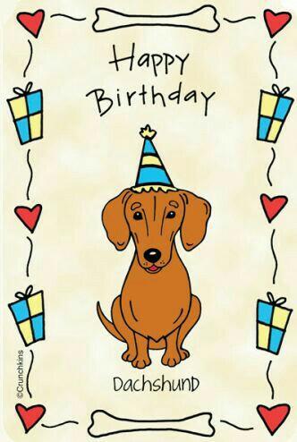 Birthday clipart dachshund Birthday dog Birthday Happy