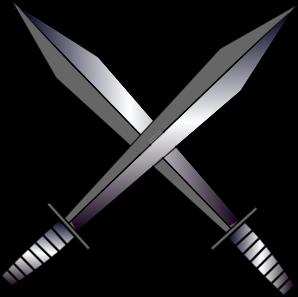 Dagger clipart crossed Clip vector Clker Clip com