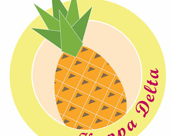 Dagger clipart kappa delta Kappa Delta Pineapple Sorority Kappa