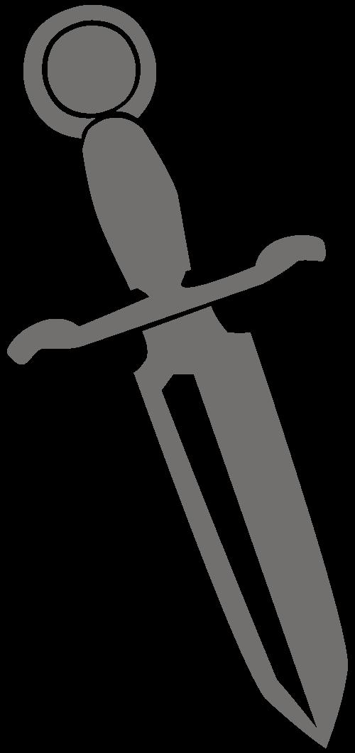 Dagger clipart kappa delta File:Dagger Silhouette File:Dagger R svg