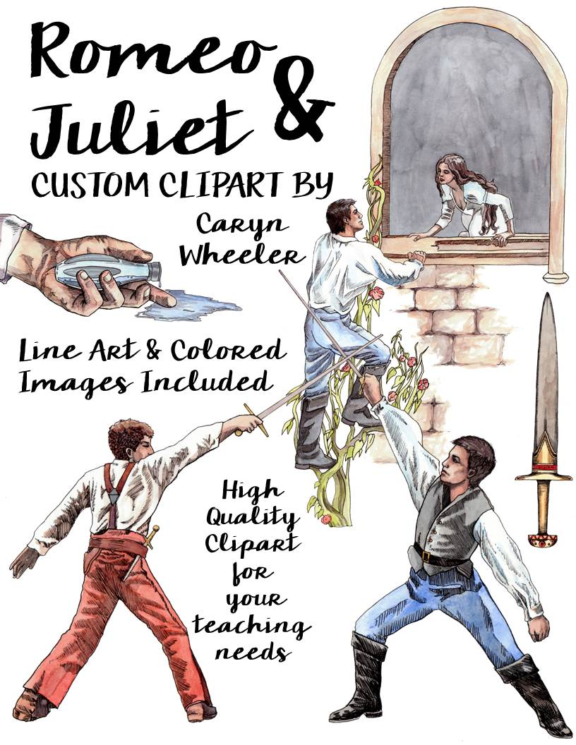 Dagger clipart shakespeare Shakespeare's William  Art Juliet