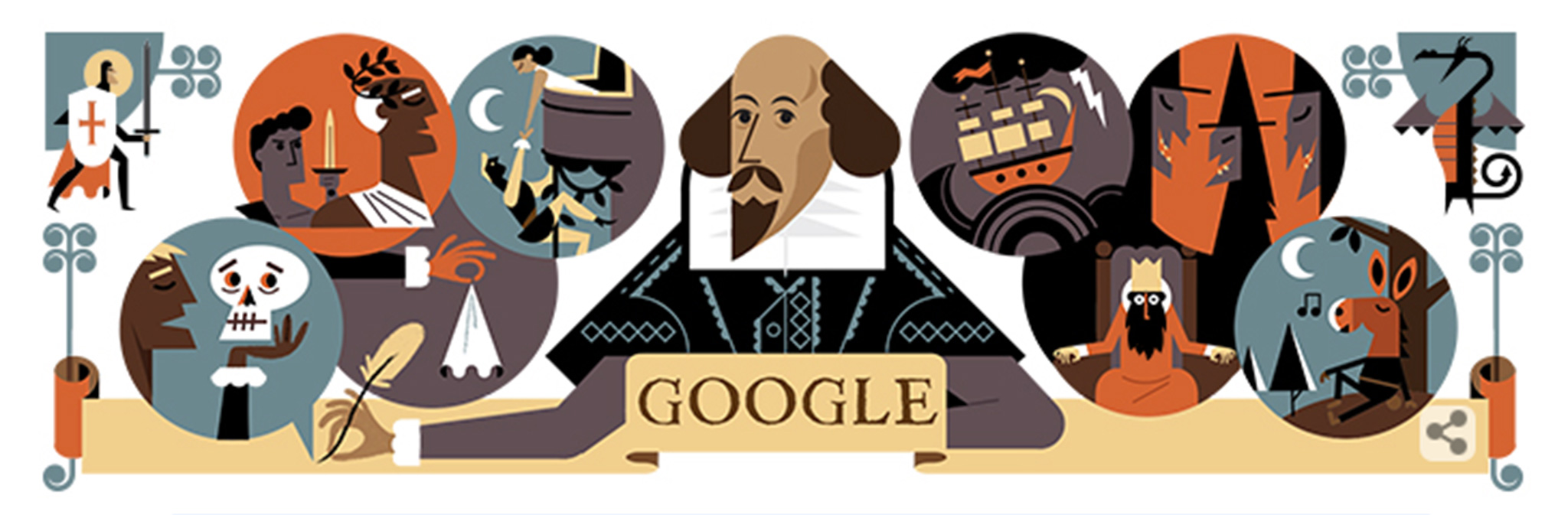 Dagger clipart shakespeare Celebrates Google name celebrates Doodle