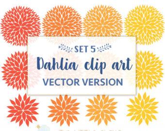 Dahlia clipart Dahlia Art ClipArt Blooms Flower