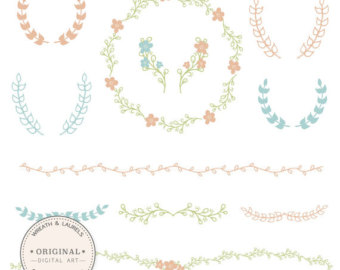 Peach Flower clipart antique flower 32 and modern Vectors in