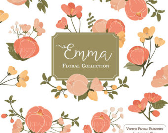 Orange Flower clipart flowery Emma flower & flowers Bunches