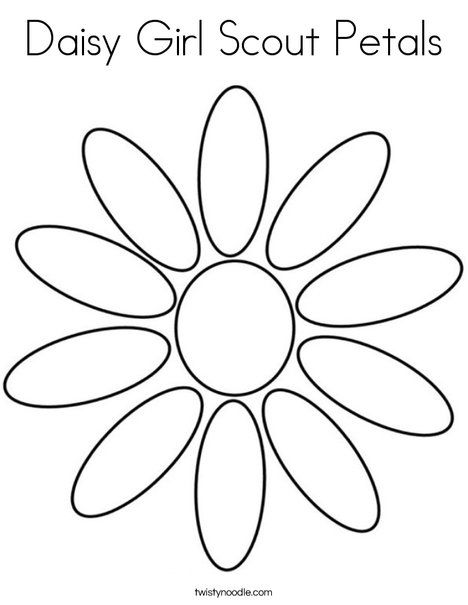 Petal clipart flower coloring On and Girl Scouts Clip