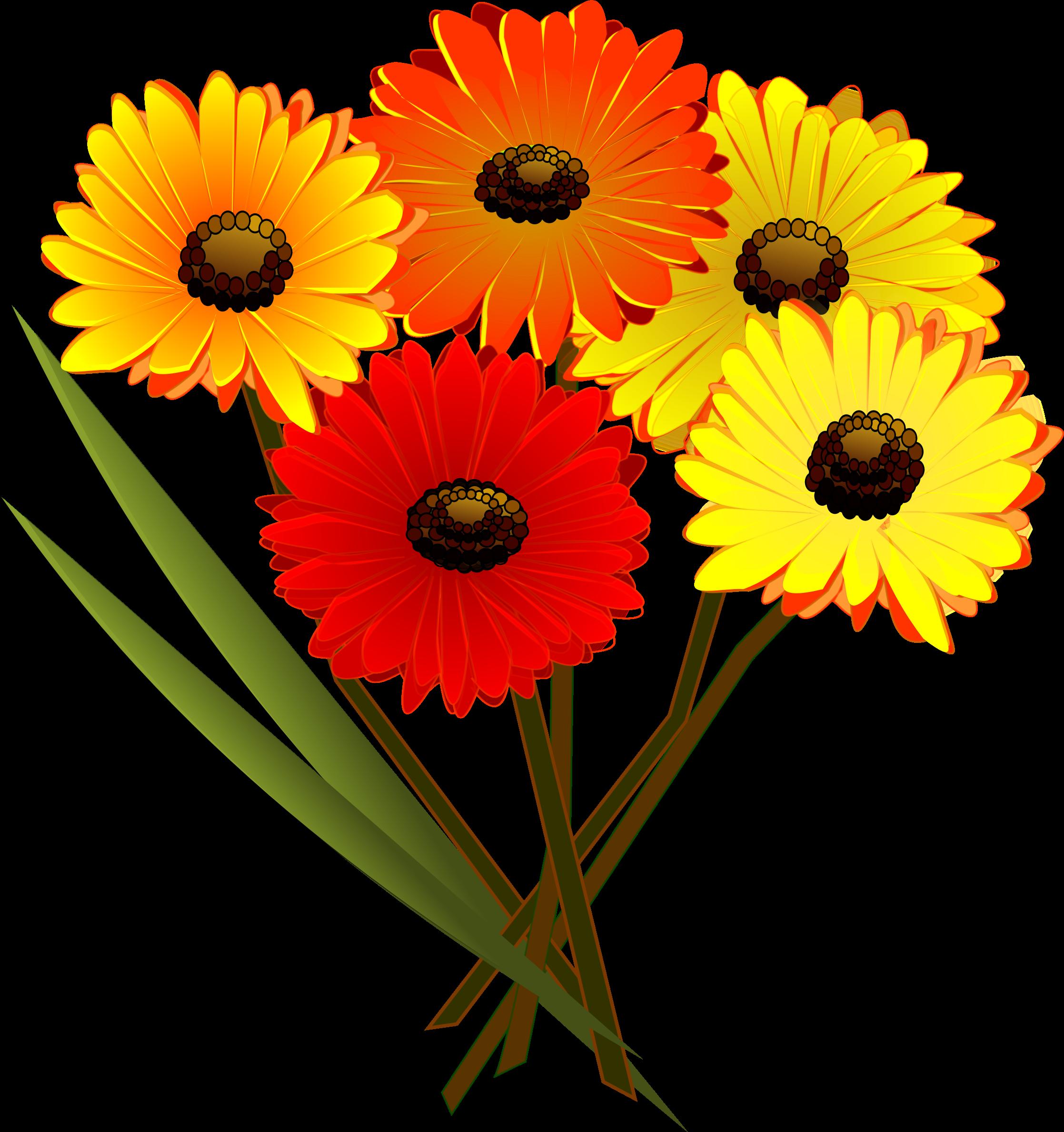 Yellow Flower clipart flower bunch Flowers bunch of bunch Clipart