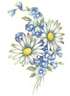 Blue Flower clipart tall flower White Daisy 6 Wildflower 4