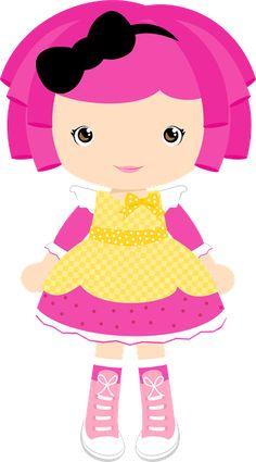 Doll clipart a pink (moniquestrella) Avila  com SCRAP