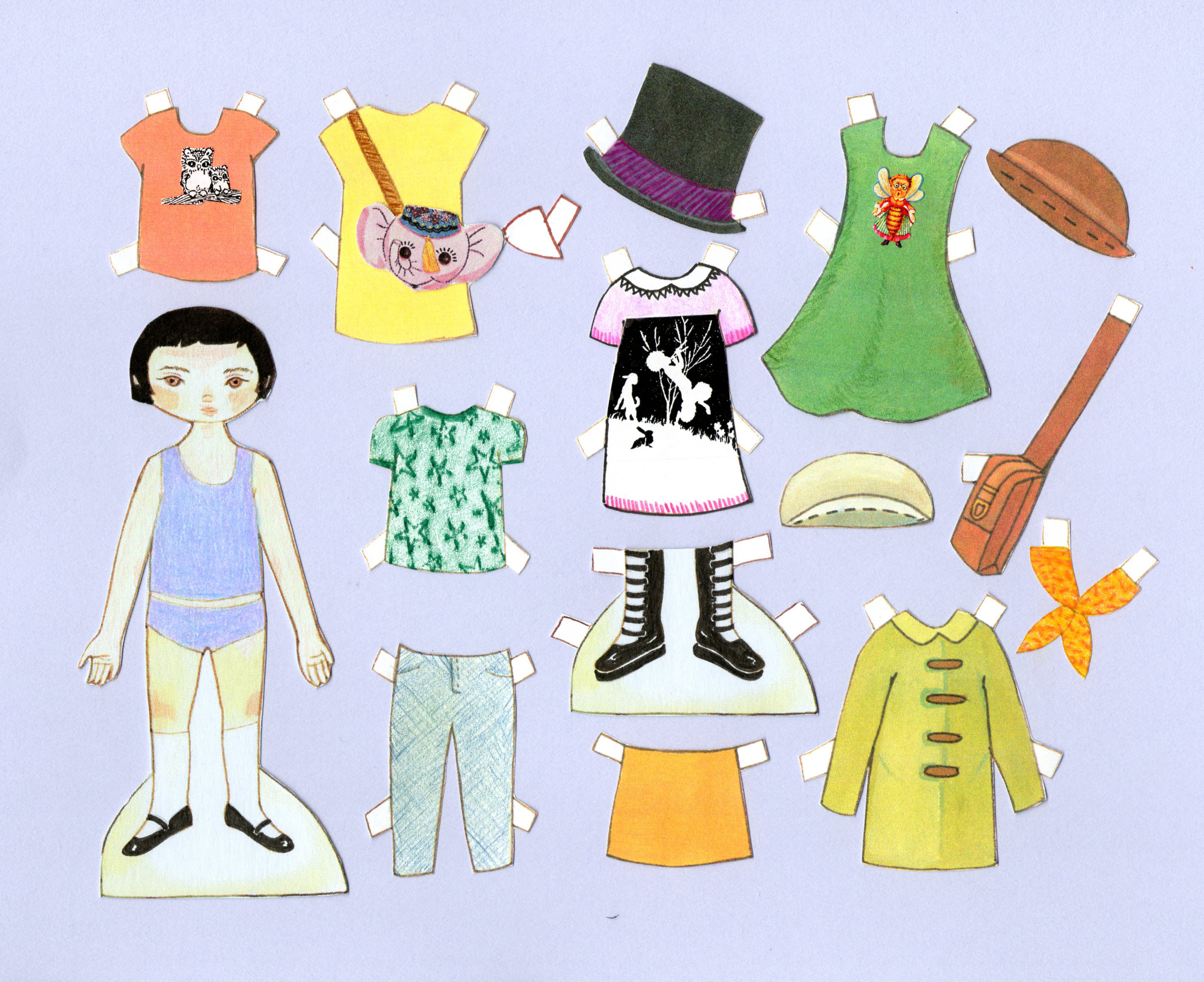 Blue Dress clipart doll Doll Clip clothes Free Doll