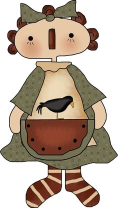 Doll clipart country DOLL Life‿✿⁀•● Melek ClipartRaggedy PaintingPrimitive