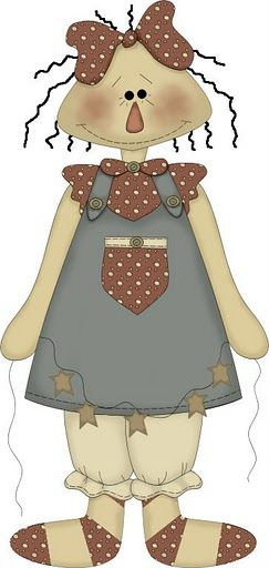 Doll clipart country Country primitive ღ Clipart doll