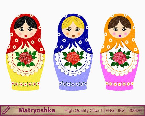 Russia clipart Russian Doll Clipart #8