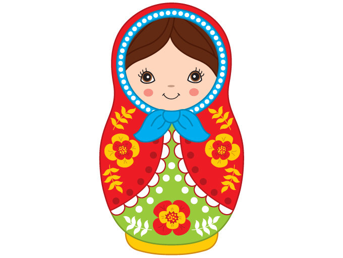 Doll clipart digital Babushka Matryoshka Toy Clipart Clipart