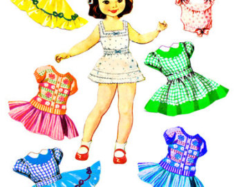 Doll clipart doll clothes Little  graphics hats Paper