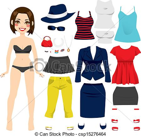 Doll clipart doll clothes Cute Doll of Clip hair