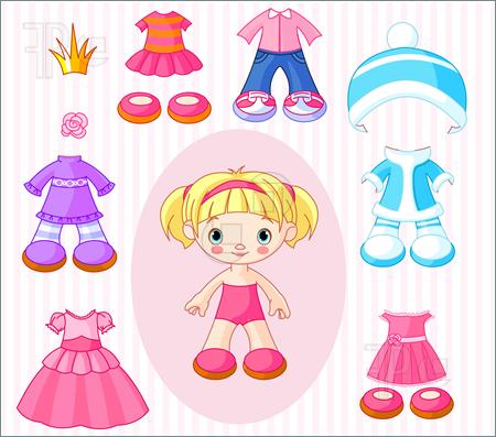 Doll clipart doll clothes  Clothes Doll Clipart
