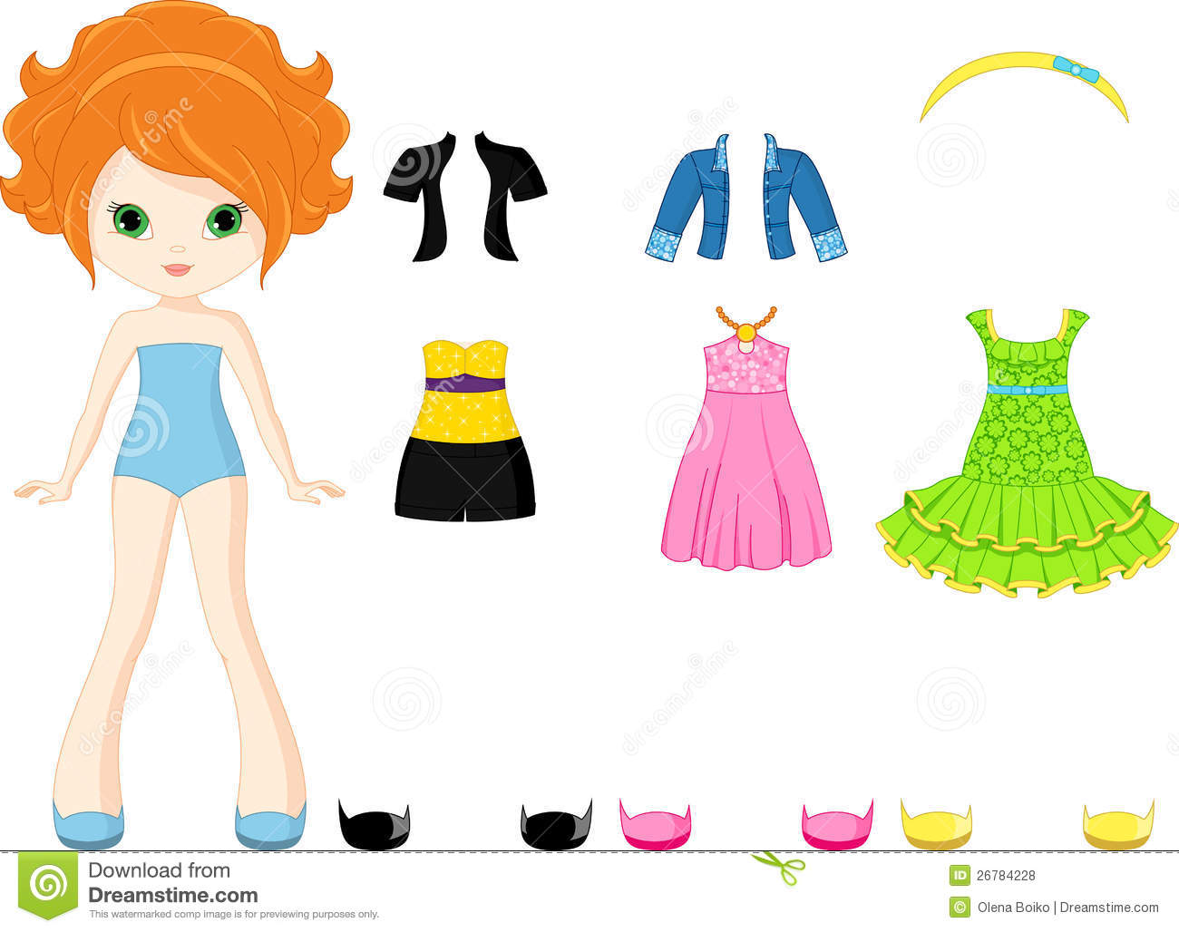 Doll clipart doll clothes Paper dolls Clip Royalty clipart