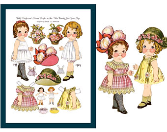 Doll clipart dolly Etsy Doll clipart Dingle Sheet