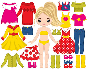 Yellow Dress clipart drees Clipart Girl Etsy OFF doll