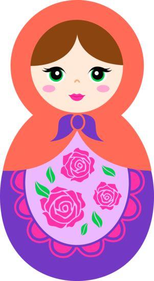 Doll clipart a pink Purple Matryoshka Doll Orange Matryoshka