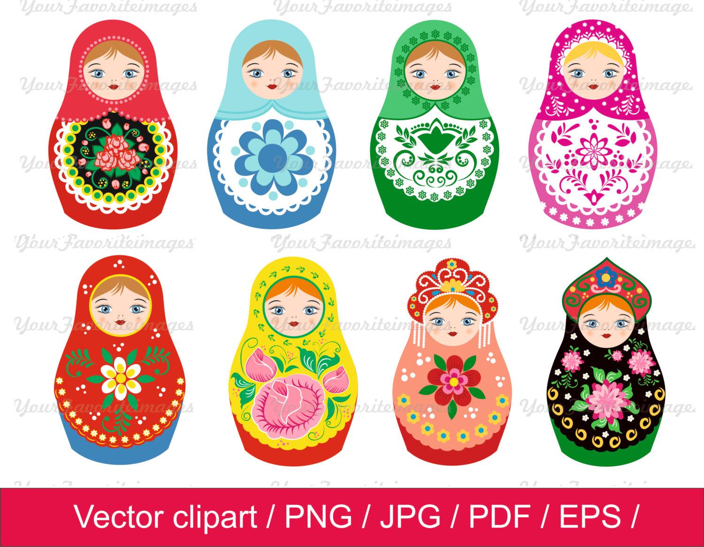 Russia clipart Russian Doll Clipart #7