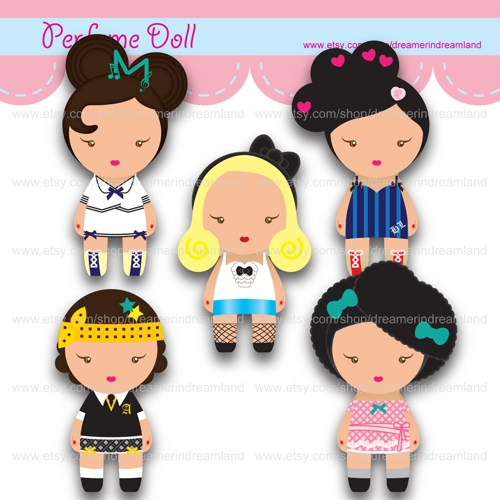 Doll clipart digital Girls Perfume PDF Doll Clip