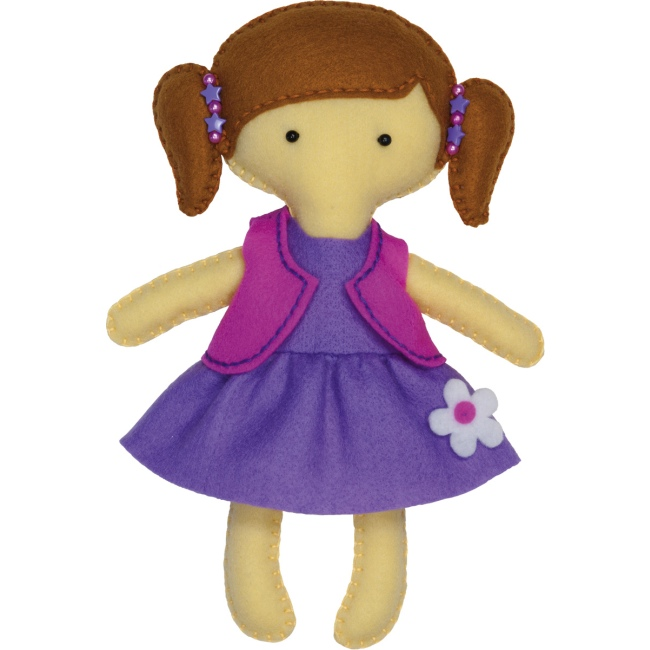 Doll clipart purple #6