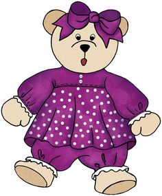 Doll clipart purple By ArtbyJean Dolls from set
