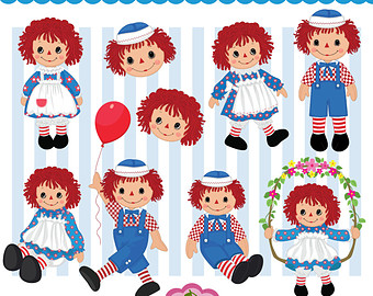 Doll clipart raggedy ann and andy Set Clipart and Commercial Doll