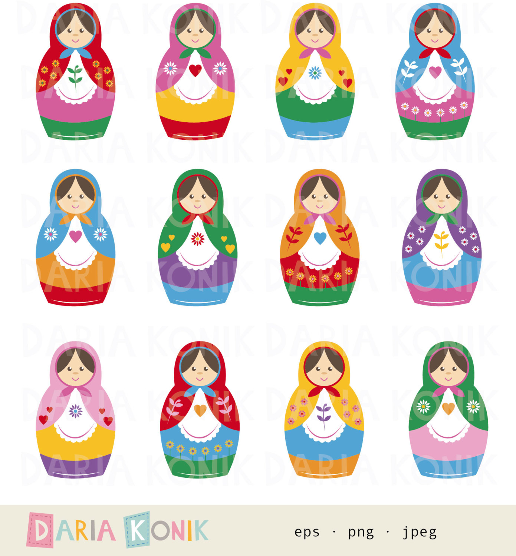 Russia clipart Russian Doll Clipart #2