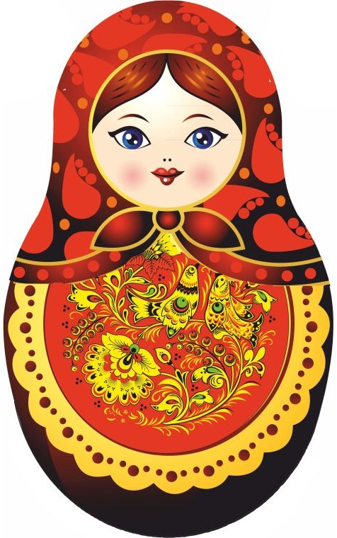 Russia clipart Russian Doll Clipart #3