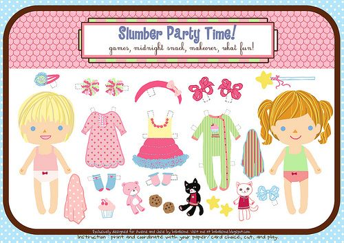 Doll clipart six DolLs 156 Paper Printable Pinterest