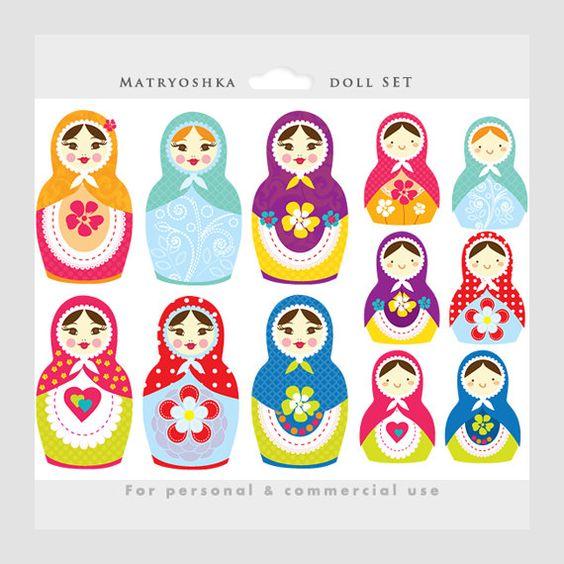 Doll clipart six Girl nesting clipart doll 1