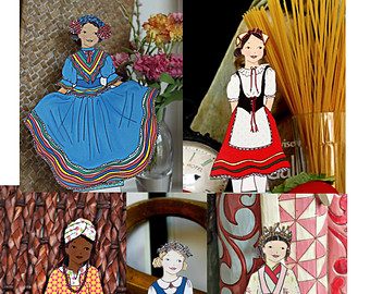 Doll clipart spain Instant Paper Outfits Outfits Clothing