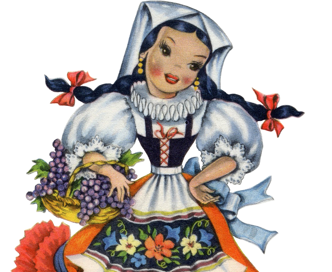 Doll clipart spain Retro Fairy Italian The