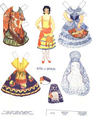 Doll clipart spain Lands doll Many 1931 paper