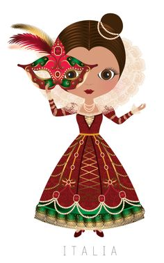 Doll clipart spain MUÑECAS DEL and ITALIA MUNDO