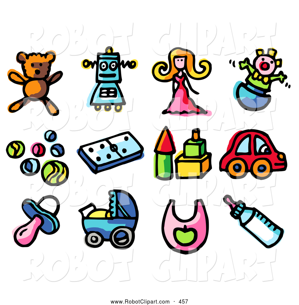 Teddy clipart doll Of Colorful Icons: Bear Child