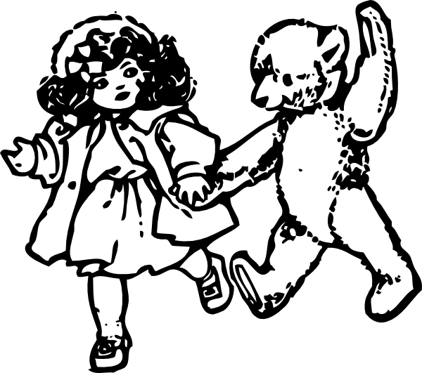 Teddy clipart doll This as: Doll Art And