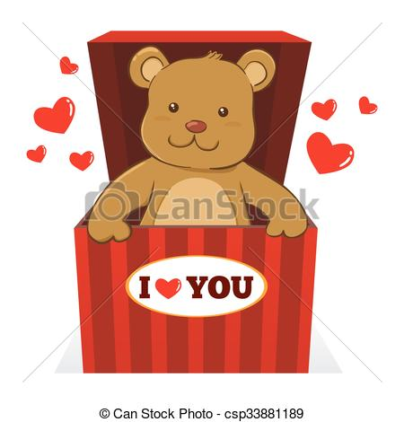 Teddy clipart doll Bear a Vector Teddy csp33881189