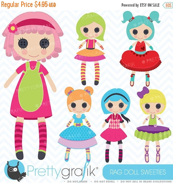 Doll clipart digital Use Rag use doll commercial