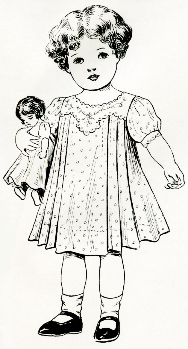 Doll clipart vintage doll Girl clipart Doll Clipart holding