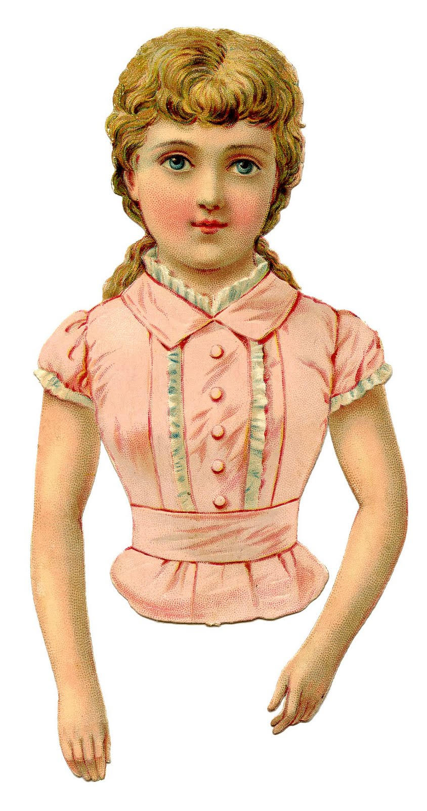 Doll clipart vintage doll Art  Scrap or Girl