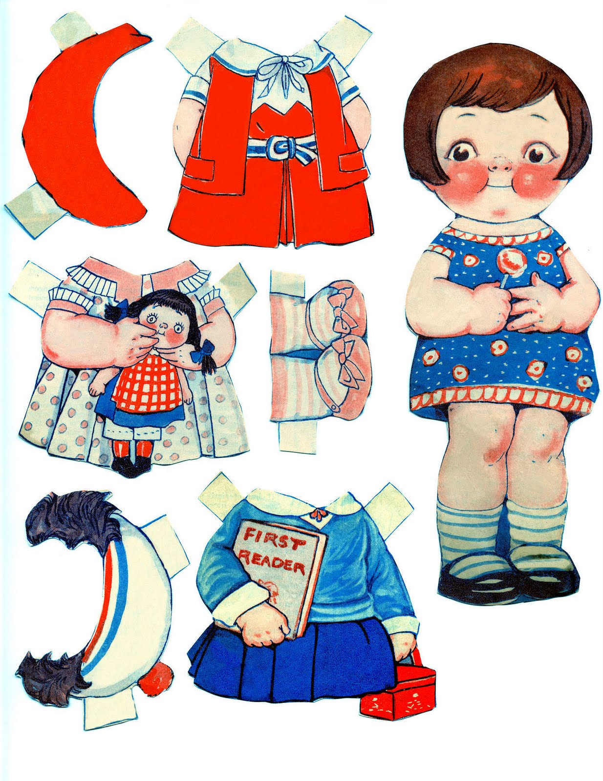 Doll clipart vintage doll – Dolls Free Paper The