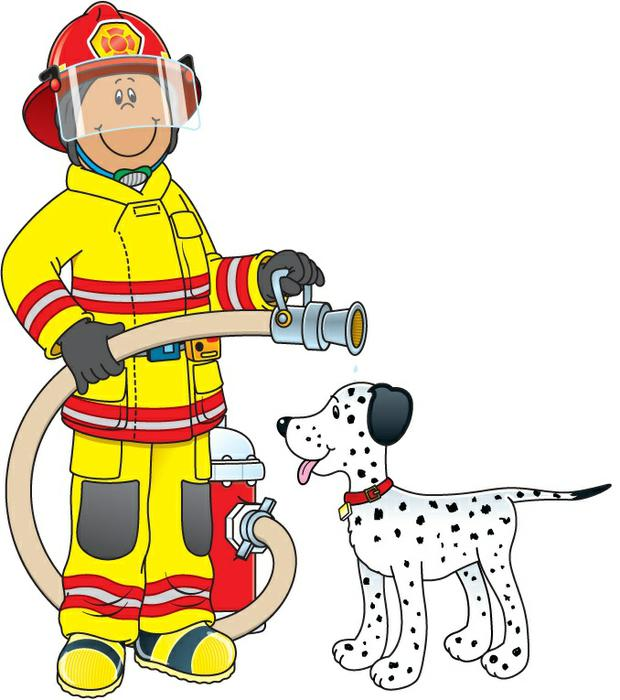 Firefighter clipart vector Carson prevention Cliparts Dellosa Fire